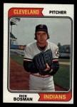 1974 Topps #465   Dick Bosman Front Thumbnail