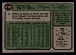 1974 Topps #419   Wayne Twitchell Back Thumbnail
