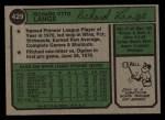 1974 Topps #429  Dick Lange  Back Thumbnail