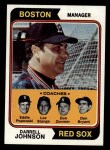 1974 Topps #403  Red Sox Leaders    -  Darrell Johnson / Don Bryant / Eddie Popowski / Lee Stange / Don Zimmer Front Thumbnail