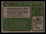 1974 Topps #426   Rennie Stennett Back Thumbnail