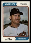 1974 Topps #469   Joe Decker Front Thumbnail