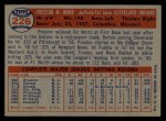1957 Topps #226   Preston Ward Back Thumbnail