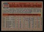 1957 Topps #398   Al Cicotte Back Thumbnail