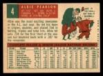 1959 Topps #4   Albie Pearson Back Thumbnail