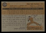 1960 Topps #134  Rookie Stars  -  Deron Johnson Back Thumbnail