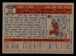 1957 Topps #36  Bob Grim  Back Thumbnail