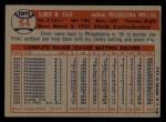 1957 Topps #54   Elmer Valo Back Thumbnail