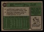1974 Topps #261   Jerry Bell Back Thumbnail