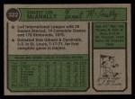 1974 Topps #322   Ernie McAnally Back Thumbnail