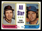 1974 Topps #334  All-Star Third Baseman    -  Brooks Robinson / Ron Santo Front Thumbnail