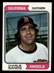 1974 Topps #381   Charlie Sands Front Thumbnail