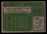 1974 Topps #388  Phil Roof  Back Thumbnail