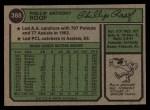 1974 Topps #388   Phil Roof Back Thumbnail