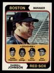 1974 Topps #403  Red Sox Field Leaders    -  Darrell Johnson / Don Bryant / Eddie Popowski / Lee Stange / Don Zimmer Front Thumbnail