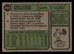 1974 Topps #407   Jim Wohlford Back Thumbnail