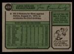 1974 Topps #424   Jim Beauchamp Back Thumbnail