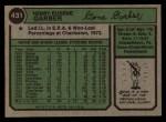 1974 Topps #431   Gene Garber Back Thumbnail