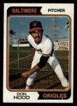 1974 Topps #436   Don Hood Front Thumbnail