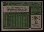 1974 Topps #443  Tom Hutton  Back Thumbnail