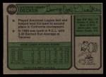 1974 Topps #469   Joe Decker Back Thumbnail