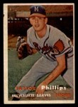 1957 Topps #343  Taylor Phillips  Front Thumbnail