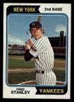 1974 Topps #423   Fred Stanley Front Thumbnail