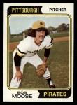 1974 Topps #382   Bob Moose Front Thumbnail