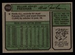 1974 Topps #162   Bill Freehan Back Thumbnail