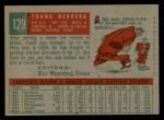 1959 Topps #129  Rookies  -  Frank Herrera Back Thumbnail