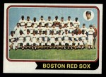 1974 Topps #567  Red Sox Team  Front Thumbnail