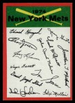 1974 Topps Red Team Checklists #16   Mets Team Checklist Front Thumbnail