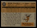 1960 Topps #321   Ron Fairly Back Thumbnail