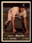 1957 Topps #62  Billy Martin  Front Thumbnail