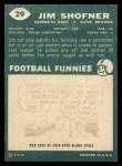 1960 Topps #29  Jim Shofner  Back Thumbnail