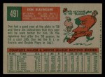 1959 Topps #491   Don Blasingame Back Thumbnail