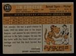1960 Topps #141  Rookies  -  Jim Proctor Back Thumbnail