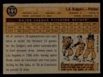 1960 Topps #191   Johnny Klippstein Back Thumbnail