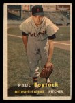 1957 Topps #77  Paul Foytack  Front Thumbnail