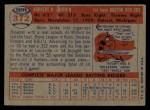 1957 Topps #372   Norm Zauchin Back Thumbnail