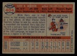 1957 Topps #404   Harry Anderson Back Thumbnail