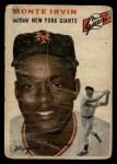 1954 Topps #3   Monte Irvin Front Thumbnail