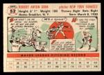 1956 Topps #52   Bob Grim Back Thumbnail