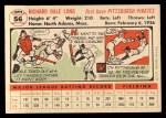 1956 Topps #56   Dale Long Back Thumbnail