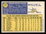 1970 Topps #271   Greg Goossen Back Thumbnail