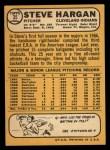 1968 Topps #35   Steve Hargan Back Thumbnail