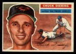 1956 Topps #19   Chuck Diering Front Thumbnail