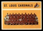 1960 Topps #112   Cardinals Team Checklist Front Thumbnail