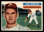 1956 Topps #114  Jim Owens  Front Thumbnail
