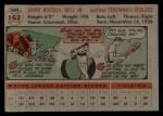 1956 Topps #162  Gus Bell  Back Thumbnail